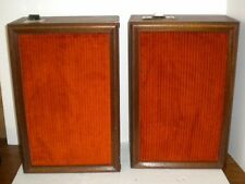 "Zenith Oak Speakers ~ Horns ~ 12"" Alnico ~ Cool Mod Orange Grills ~ Heavy"