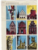 Germany circa 1960 historical buildings cinderella group in block x 9