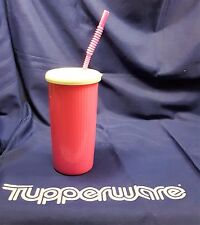 Tupperware HOT PINK insulated tumbler with straw seal lids 24oz