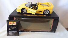 Maisto Die-Cast Special Edition1995 1:18 Ferrari F50 Yellow Car MIB #H911