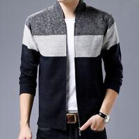 Sweater Tops Knitted Chunky Warm Cardigan Coat Collar Jumper Shawl Men's Jacket