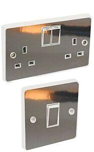 Chrome Silver Light Switch & Double Socket Sticker Vinyl / Skin cover