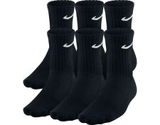 6 PACK NIKE Logo Sports Socks, Pairs Mens Womens Ladies  Unisex - Black