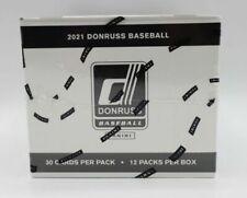 2021 Donruss Baseball жира упаковка коробка 12 упаковок по 30 в заводской упаковке
