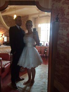 Sherri Hill White Prom/Wedding Dress Size US 6