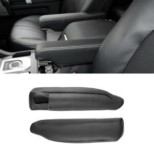 For LAND ROVER DISCOVERY LR3 LR4 04-16 Leather Seat Armrest Handle Cover 2xBlack