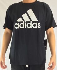 Adidas Men's Shirt Tee Badge of Sport Fill Carded Black White CD7936 Size L