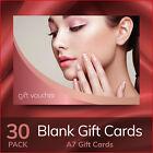 Gift Voucher Beauty Salon Blank Card Nails Manicure Makeup 30x - A7 Cards Only