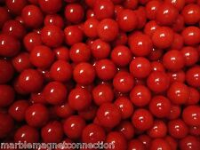 MARBLE LOT 2 POUNDS OF 9/16 INCH OPAL RED MEGA MARBLES FREE SHIPPING