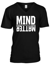 Mind Over Matter Exercise Workout Weight Lifting Wod Mens V-neck T-shirt