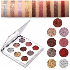9 Color Brillo Diamante Sombra De Ojos Purpurina Paleta cosméticos maquillaje
