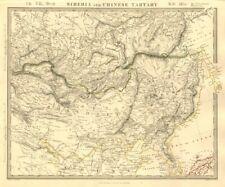 SIBERIA & CHINESE TARTARY Manchuria Mongolia Korea China Silk road SDUK 1846 map