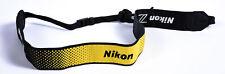 """Nikon Neck Strap 1.5"""" Black Yellow Stitched White """"Nikon Z"""" (AN-DC19) - *EX*"""