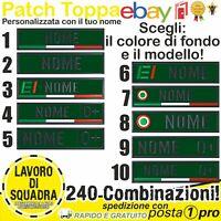 Patch Toppa NOME 12x3cm  ricamo personalizzata ESERCITO SOFTAIR AIRSOFT Militare