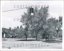 1958 Traffic Light Intersection Shaker Heights Cleveland OH Press Photo