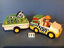 (122) playmobil 1.2.3. véhicules remorque de la savane