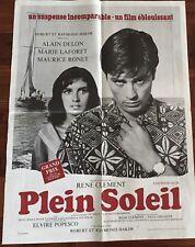 Affiche cinéma Movie Poster Plein Soleil Alain Delon 60x80