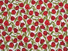 Tulip Festival Floral Cotton Benartex Fabric #2777 By the Yard