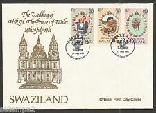 Swaziland FDC  Royal Wedding Price Charles Lady Diana