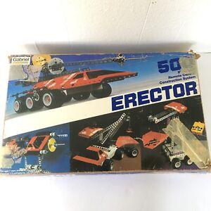 Vtg 1981 Gabriel Erector Motorized R/C Construction System 500 Untested Parts