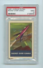 Rocket over Canali F280-3 1953 Space Patrol Chex = PSA 9