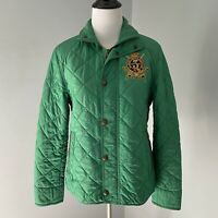 Ralph Lauren Sport Equestrian Rider Jockey Club Crested Patch Quilted Jacket S