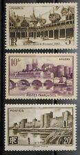 1941 FRANCE Y & T N° 499 à 501 Neufs *  AVEC TRACE CHARNIERE