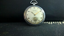 CYMA  MILITARY  WWII 40th VINTAGE 44mm  VERY RARE SWISS POCKET WATCH.