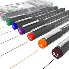 Staedtler 308 Pigmento Liner Fineliner – 0.3mm - Cartera de 6 Colores Surtidos