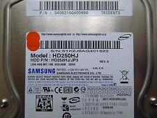 250 GB Samsung hd250hj/340821gq400696/2008.04/bf41-00180a rev.07, funda rígida Disc