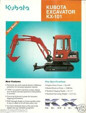Equipment Brochure - Kubota - KX-101 - Mini-Excavator - c1992 (E2233)