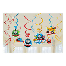 12 x Thomas Tank Engine Hanging Swirls Party Decorations Value Pack