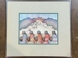 """Professionally Framed AMADO PENA Lithograph - """"Las Moradas"""""""