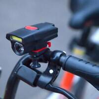 Bike Front Head Light Cycling Bicycle LED Lamp Flashlight 6 Modes + Clip Holder