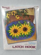 "Caron International Latch Hook Rug Kit Sunflowers 20 x 27"" New! Sealed #4274"