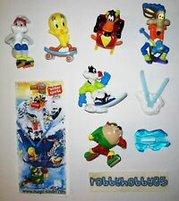 LOONEY TUNES WINTER SPORTS COMPLETE SET WITH ALL PAPERS KINDER SURPRISE 2009