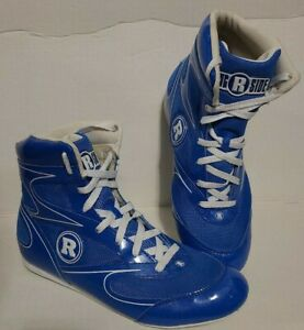RINGSIDE DIABLO BOXING SHOES ~ BLUE ~ SIZE 8
