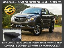 MAZDA BT-50 MK2 FRONT & REAR NEOPRENE SEAT COVERS FULL COVERAGE- MAP POCKETS X 4