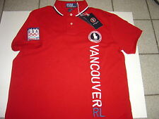 """MENS RALPH LAUREN RED VANCOUVER 2010 OLYMPICS S/S """"CUSTOM POLO SHIRT SIZE L $125"""