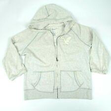 American Eagle Gray Eagle Fleece Zip up Hoodie Jacket Sz Large