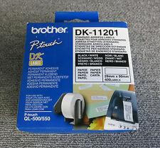Nuevo hermano dk-11201 Ql etiquetas de dirección estándar 29x90mm Blanco Rollo De 400