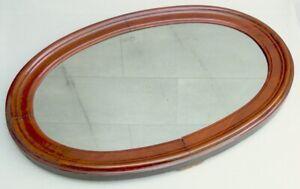 #4098 - Antiker Wandspiegel - Oval - Massivholz Rahmen