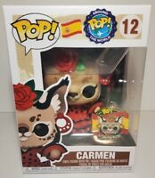 Funko Pop! Around the World Spain #12 Carmen with Pin Sold-Out Protector Incl