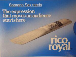 RICO ROYAL Sopran-Saxophon Blatt Blätter Blättchen Reeds Stick Stärke 3,5 / 5,0