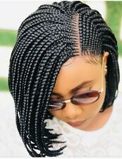 Braided Wig, Bob Braids Wig, Cornrows Braids, Lace Front Wig, Short Braids Wig,