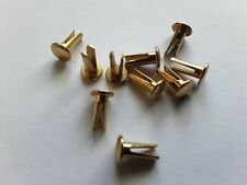 4mm x 6.5mm  Bifurcated Split leg Nickel plated  Steel Rivets Oval Head Qty 10