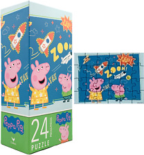 Nick Jr. Cartoon Peppa Pig New 24 Piece Jigsaw Puzzle Big Pieces Toddler Size