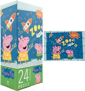New Nick Jr. Peppa Pig 24 Piece Jigsaw Puzzle Big Pieces Toddler Size Kids Fun