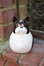 """Süße Zaunfigur / Zaunhocker """"Französische Bulldogge """" aus Keramik"""