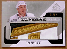 "2014-15 BRETT HULL UD SP GAME USED ""SUPREME PATCHES"" 4 COLOR GU PATCH /12"